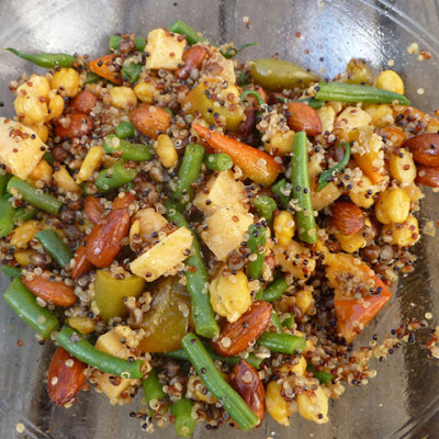 Quinoa, Wheat Berry, and Chickpea Salad with Green Beans