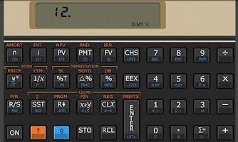 Screenshot of Andro12C financial calculator