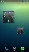 Screenshot of Alpha Analog Clock Widget