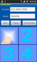 Screenshot of Thumb Dialer