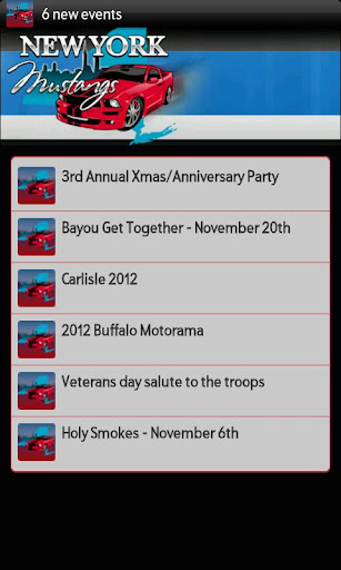 New York Mustangs Events Feed