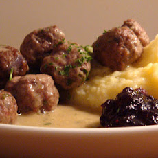 Gluten free Swedish meatballs with mustard cream sauce