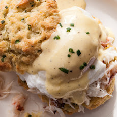 Crab Benedict on Lemon-Chive Biscuits Recipe