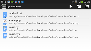 Screenshot of CodePad python plugin
