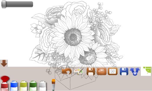 App Coloring adult flower APK