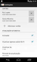Screenshot of cartão à la card