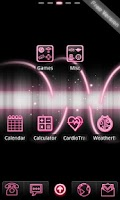 Screenshot of Neon Pink Free Go EX Theme