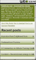 Screenshot of Holy Books Free Ebook library