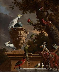 RIJKS: Melchior d' Hondecoeter: The Menagerie 1690