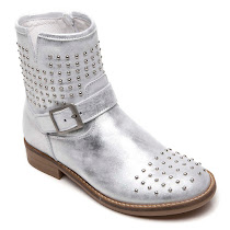 Hip Shoes Studded Zip Boot TRAINERS
