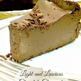 Light and Luscious Chocolate Cheesecake