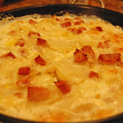 Potatoes and Ham ala Julia Child