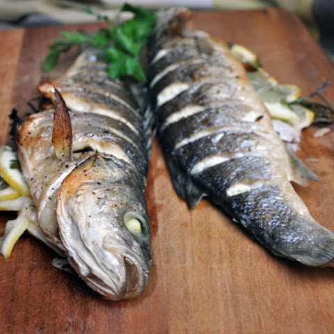 Whole Roasted Branzino