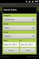 Screenshot of Star Event Manager