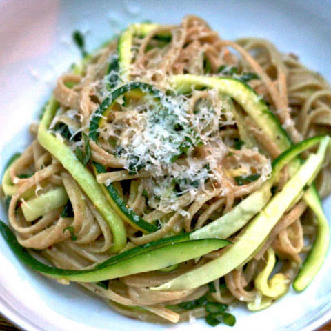 Whole Wheat Pasta with Julienned Zucchini