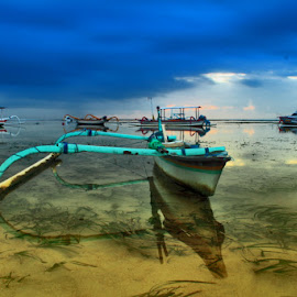 boat reflection by Igusti Ngurah Semara AdiPutra - Transportation Boats