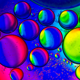Water & Oil.. II by Ubayoedin As Syam - Abstract Macro