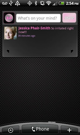 Black Pink Theme for Facebook - screenshot