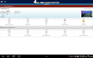 Screenshot of NBC Washington