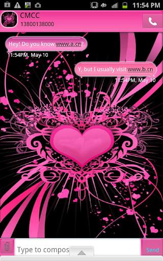 GO SMS - Tattooed Heart