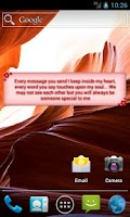 Screenshot of Cute SMS text on screen