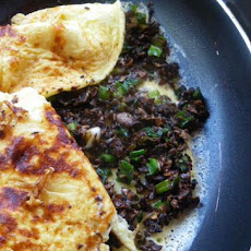 Green Onion and Mushroom Omelet