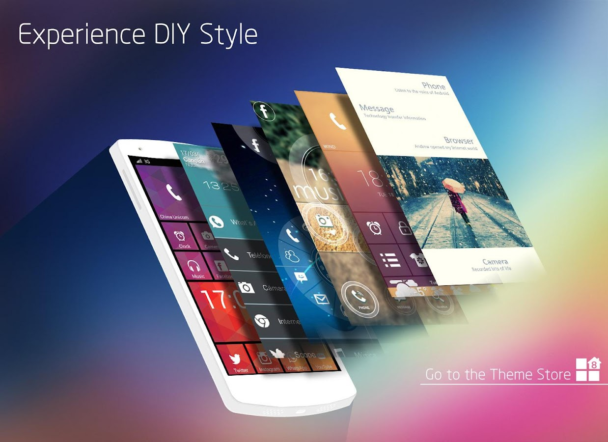 Launcher 8 WP style Screenshot 12