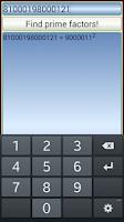 Screenshot of Prime Factor Finder
