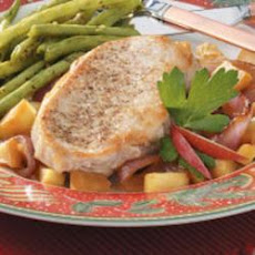Apple-Onion Pork Chops