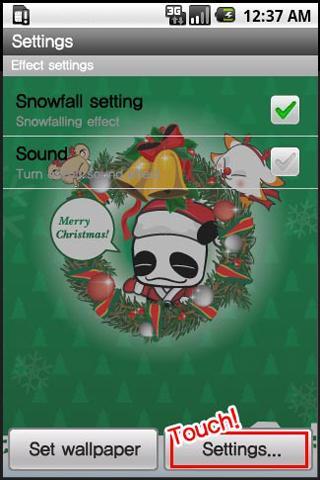 【免費生活App】PandaChristmas Livewallpaper-APP點子