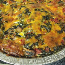 Spinach, Mushroom and Cheese Casserole