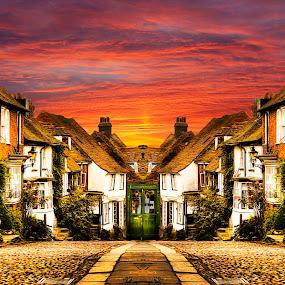 Rye Cobbles by Don Alexander Lumsden - City,  Street & Park  Street Scenes