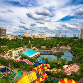 A view across the lagoon by Elf's Photography - City,  Street & Park  Skylines ( sunwaylagoon )