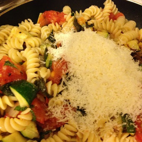 Fusilli Pasta with Grilled Vegetables and Lemon