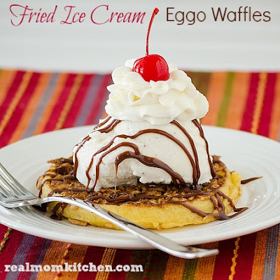 Fried Ice Cream Eggo Waffles
