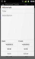 Screenshot of TimeAct To-Do / Tasks List