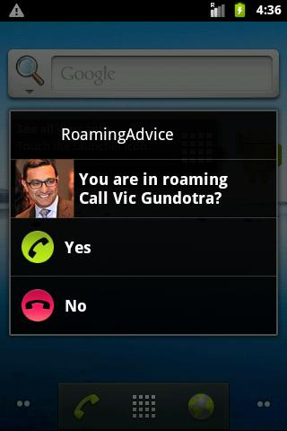 RoamingAdvice Call Confirm