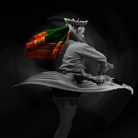 Bailarina by Jose German - People Musicians & Entertainers ( selective color, pwc )