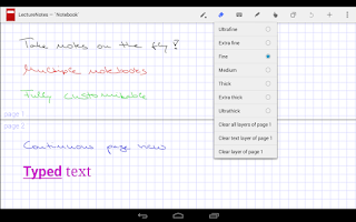Screenshot of LectureNotes (Trial Version)