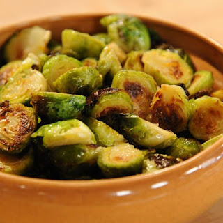 Roasted Brussels Sprouts with Orange-Butter Sauce