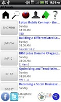 Screenshot of Lotusphere 2012 Scheduler