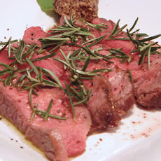 Tuscan Grilled Steak with Rosemary - Tagliata Toscana Al Rosmarino