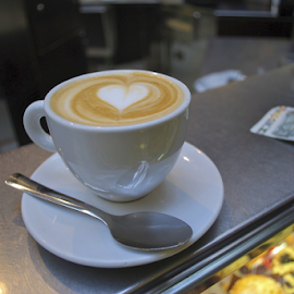 The Perfect Cappuccino by Holly Lent - Food & Drink Alcohol & Drinks ( cup, heart, cappuccino, coffee, cafe, spoon )