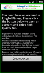 RingTel Pinless™ - screenshot