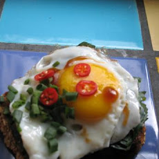 Poached Eggs With Oyster Sauce
