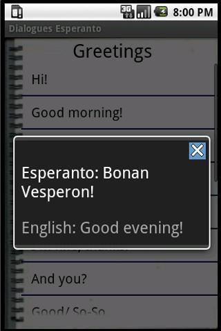 Esperanto Dialog