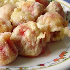 Fried Strawberries With Honey Cream