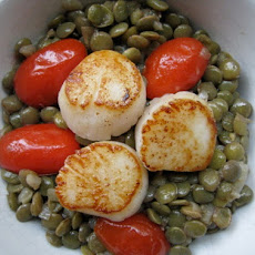 Sunday Supper: Seared Scallops with Lentils