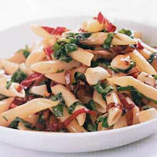 Penne with Wilted Arugula, Radicchio, and Smoked Mozzarella