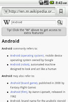 Screenshot of Wiki Search